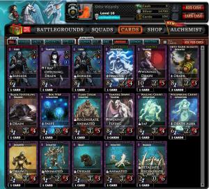 Warstorm Cards