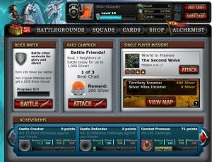 Warstorm Main Screen