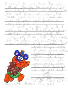 Alex Griffinsong Letter
