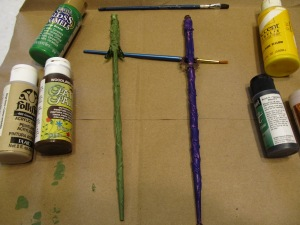 Base Coat - moss green for Life, purple for Storm